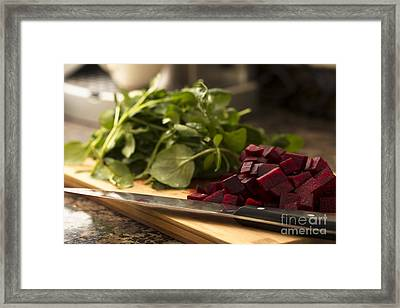 Beetroot And Watercress Framed Print