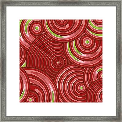 Beetroot Pink Abstract Framed Print by Frank Tschakert