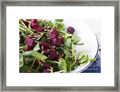 Beetroot Salad Framed Print