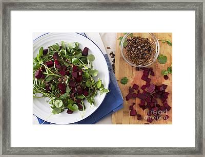 Beetroot Watercress Salad Framed Print