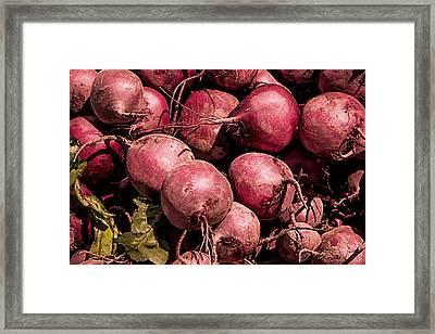 Beets - Earthy Wonders Framed Print by Kathy Bassett