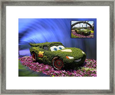 Before And After Sample Art 29 Floral Lightning Mcqueen Framed Print by Thomas Woolworth