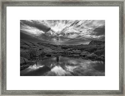 Before Dawn Bw Framed Print