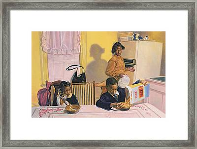 Before School Framed Print
