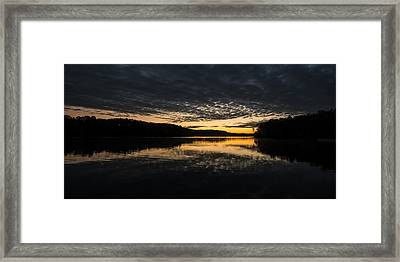 Framed Print featuring the photograph Before Sunrise At The Lake by Todd Aaron