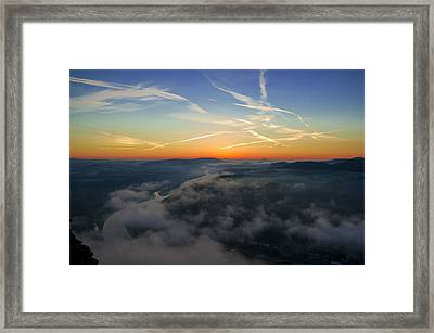 Before Sunrise On The Lilienstein Framed Print