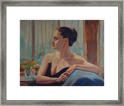Before The Ballet Framed Print by Keith Burgess