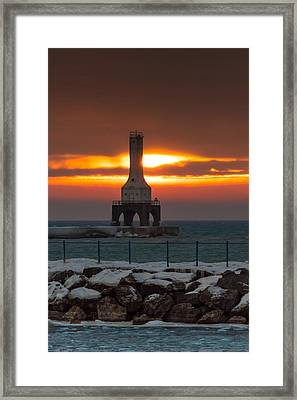 Before The Blizzard Framed Print
