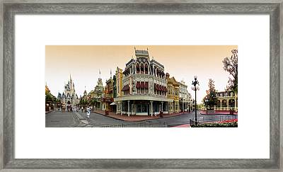 Before The Gates Open Magic Kingdom Main Street. Framed Print by Thomas Woolworth