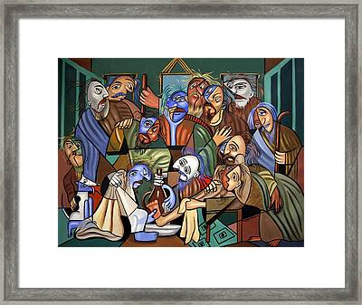Before The Last Supper Framed Print by Anthony Falbo