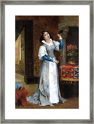 Before The Masked Ball Framed Print by Noel Saunier
