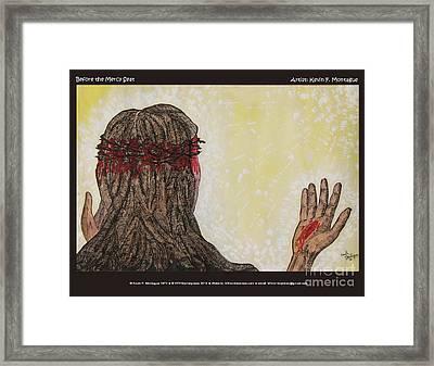 Before The Mercy Seat Framed Print by Kevin Montague