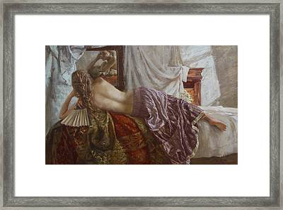 Before The Mirror Framed Print by Korobkin Anatoly