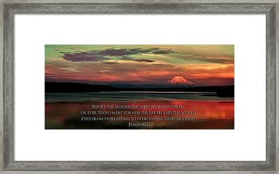 Before The Mountains Framed Print