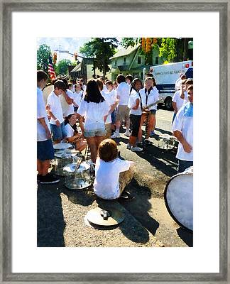 Before The Parade Framed Print