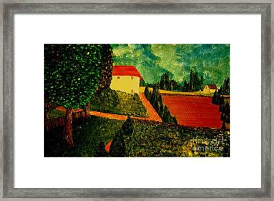 Framed Print featuring the painting Before The Rain by Bill OConnor