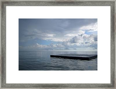 Framed Print featuring the photograph Before The Rain by Jon Emery