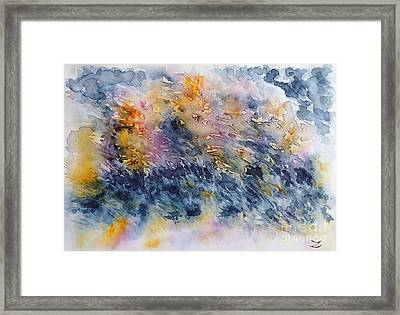 Before The Rain  Framed Print by Zaira Dzhaubaeva