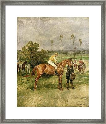 Before The Start Framed Print by John Lewis Brown