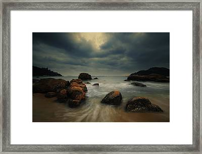 Framed Print featuring the photograph Before The Storm by Afrison Ma