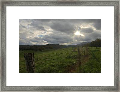 Before The Storm Framed Print by Cathy Shiflett