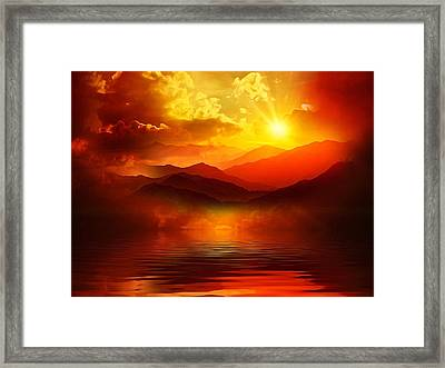 Before The Sun Goes To Sleep Framed Print