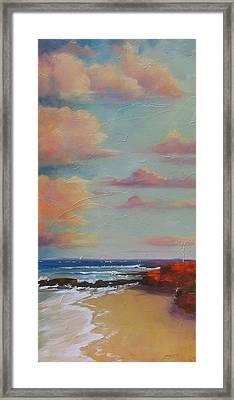 Before The Sun Sets Framed Print by Laura Lee Zanghetti