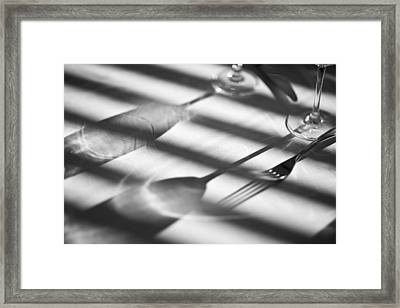 Before The Toast Framed Print by Don Powers