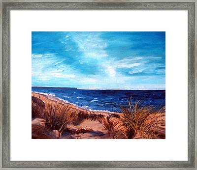 Before The Tumble At Chapin Beach Framed Print by Viola Holmgren