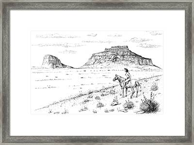 Open Prairie Overlook Framed Print by Bern Miller