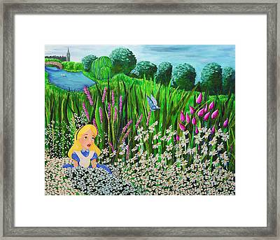 Before Wonderland Framed Print by Dennise Heckman