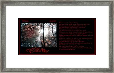 Before You Can Framed Print by Bill Cannon