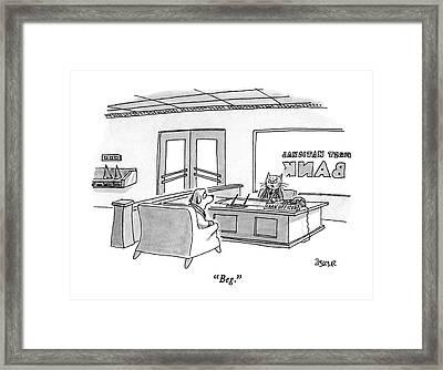 Beg Framed Print