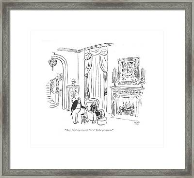 Beg Pardon, Sir, The Pot O' Gold Program Framed Print