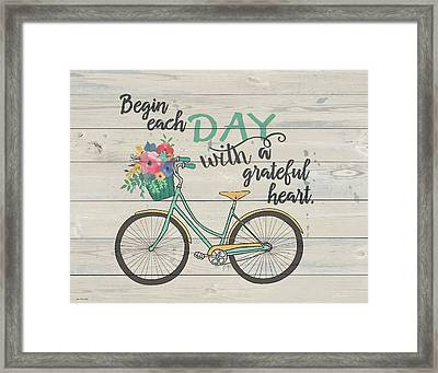 Begin Each Day Framed Print