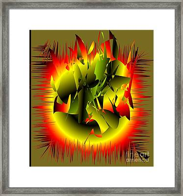 Framed Print featuring the digital art Beginning by Iris Gelbart
