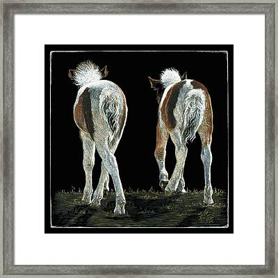 Beginning Line Dancing Framed Print