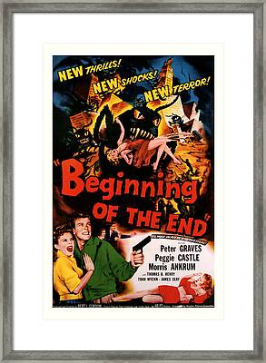 Beginning Of The End 1957 Framed Print by Presented By American Classic Art
