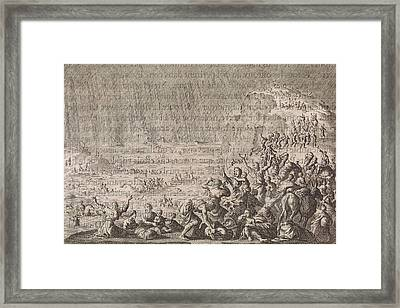 Beginning Of The Flood, Jan Luyken, Pieter Mortier Framed Print by Jan Luyken And Pieter Mortier