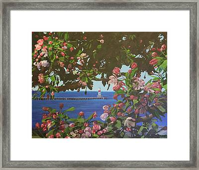 Framed Print featuring the painting Beginnings Of Summer At The Waterfront by Wendy Shoults