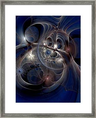 Framed Print featuring the digital art Beguiled At Twilight by Casey Kotas