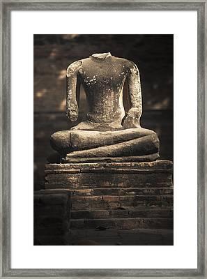 Beheaded Buddha Framed Print
