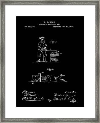 Beheading Ax Patent Framed Print by Dan Sproul