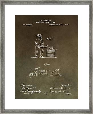 Beheading Block Patent Framed Print by Dan Sproul