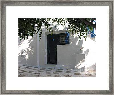 Behind A Blue Door 2 Framed Print by Mel Steinhauer
