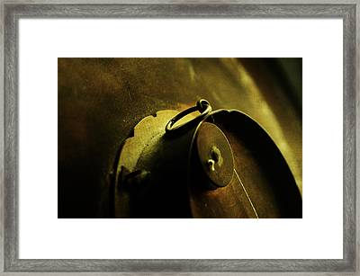 Behind Closed Doors Framed Print by Rebecca Sherman