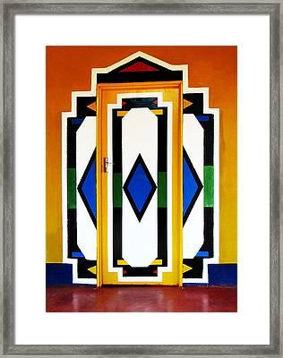 Behind Coloured Doors Framed Print by Tina Pitsiavas