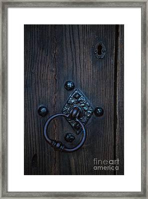 Behind Locked Doors Framed Print
