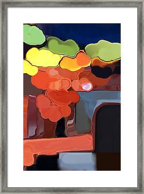 Framed Print featuring the digital art Behind My Window by Haleh Mahbod
