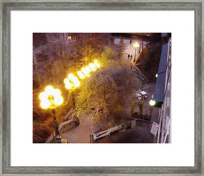 Behind Pike Place Market Framed Print by Helen Roach
